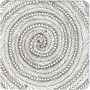 Zentangle Spiral