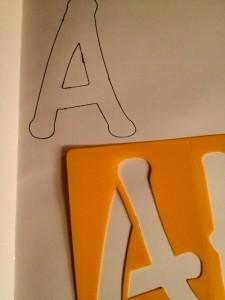 Trace the letter A stencil