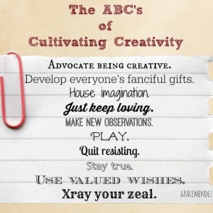 ABC's of Cultivating Creativity
