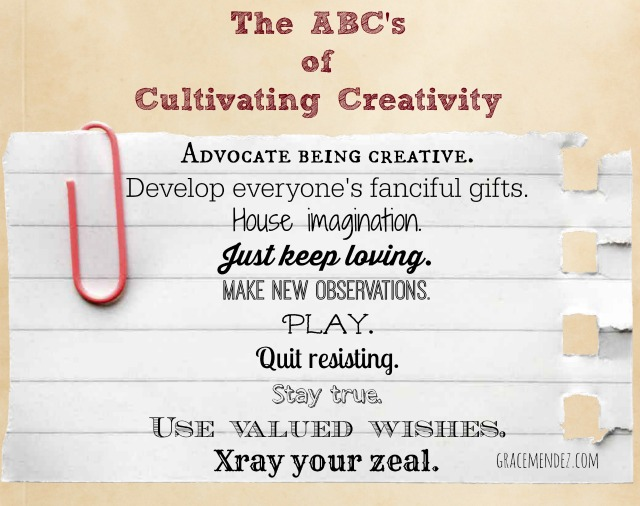 ABCs of Cultivating Creativity