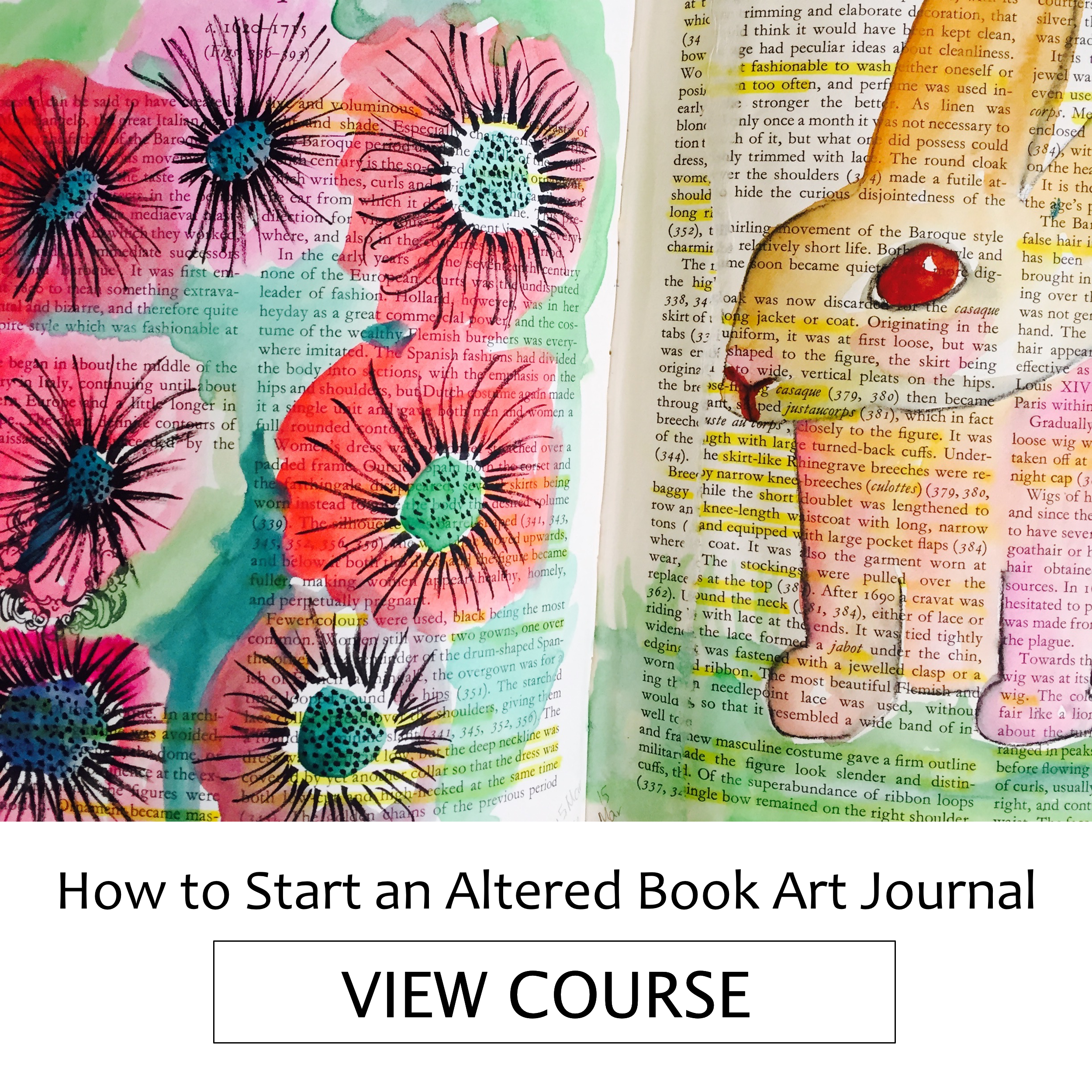 Altered Book Art Journaling Workshop