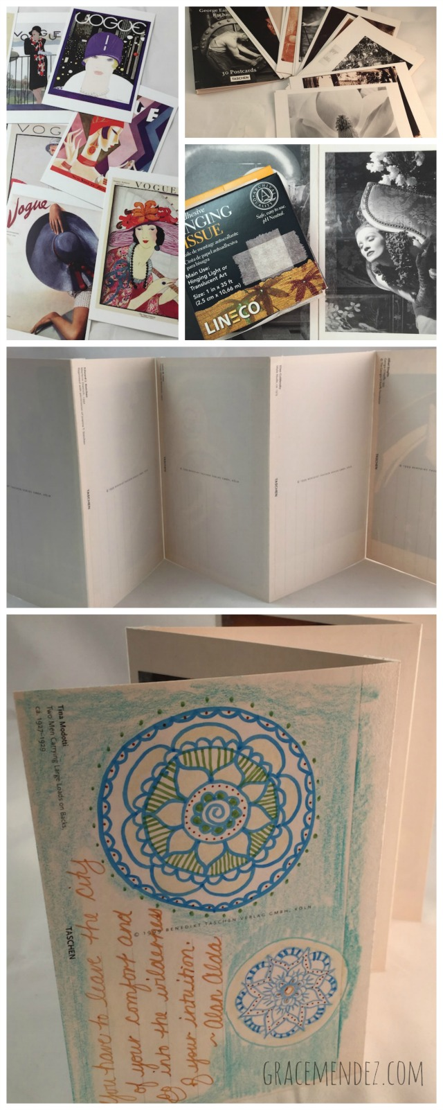 Grace Mendez: Accordion Post Card Book