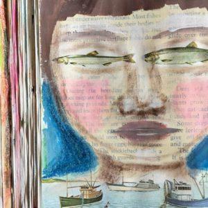 A Peek into an Altered Book Art Journal