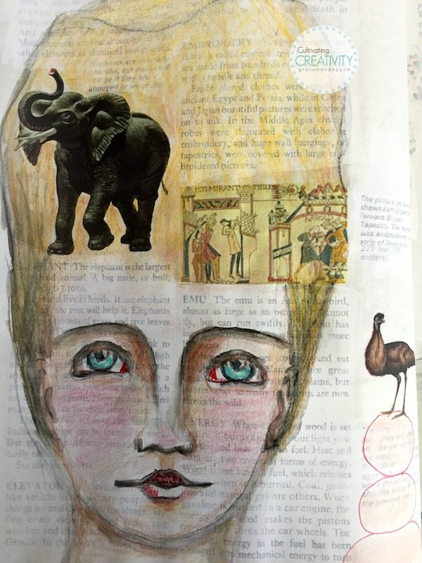 Grace Mendez Altered Book Page E