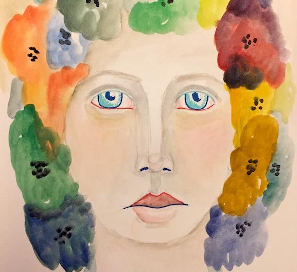 Grace Mendez Art Journal Face