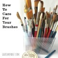 Grace Mendez How To Take Care Of Paint Brushes