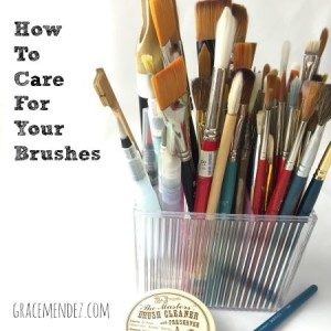 How To Take Care Of Paint Brushes