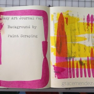 Easy Art Journal Background with Paint Scraping