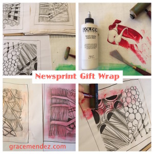 Newsprint Gift Wrap