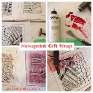 Newsprint Gift Wrap