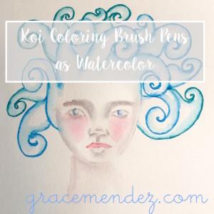 Grace Mendez Koi Coloring Brush Pens