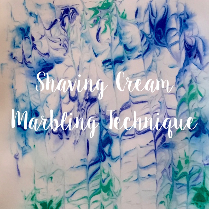 Grace Mendez Shaving Cream Marbling Technique