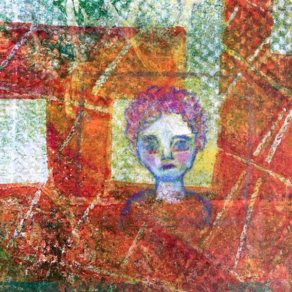 Grace Mendez Mini Canvas Gelli Print Portrait