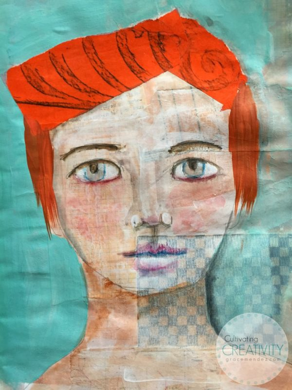 Grace Mendez Mixed Media Portrait