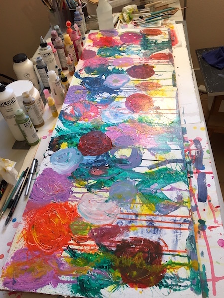 Grace Mendez Abstract Flower Painting