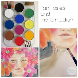 PanPastels and Matte Medium