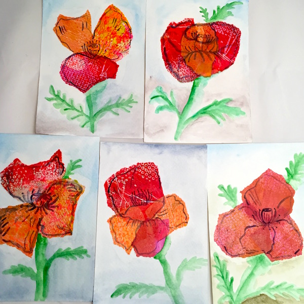 Grace Mendez Tissue Paper Paintings