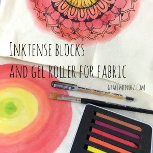 Grace Mendez Inktense Blocks Tote and Apron
