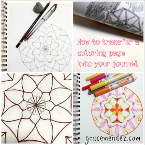How To Transfer A Print Out Onto A Journal Page