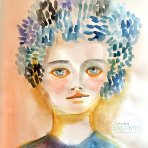 Art Journal Watercolor Portrait