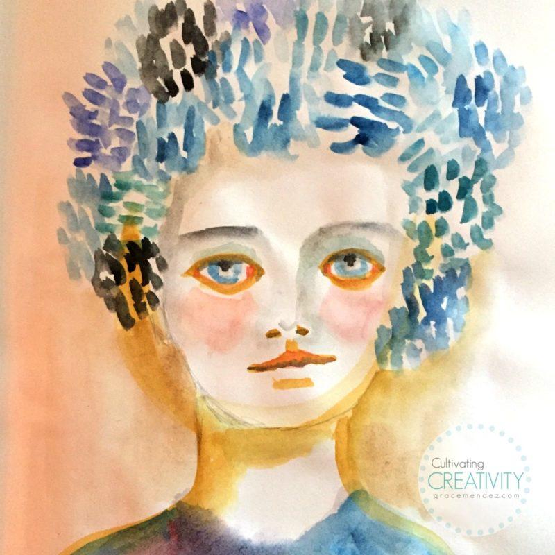 Grace Mendez Watercolor Portrait