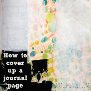 How to Cover Up an Art Journal Page