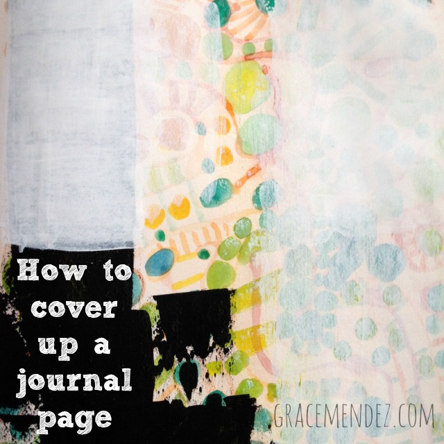 How to cover up a journal page