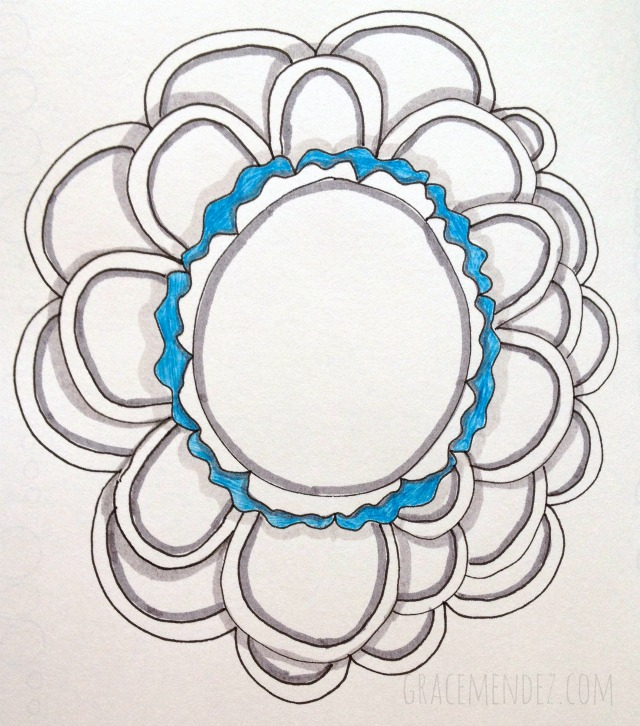 Circular Art Journal Border by Grace Mendez