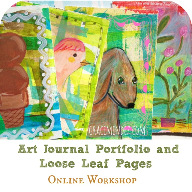 Art Journal Portfolio and Loose Leaf Pages Online Workshop