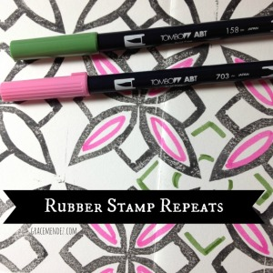 Rubber Stamp Carving and Repeat Patterns