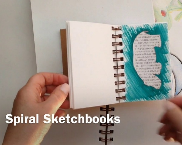 Spiral Sketchbooks Grace Mendez