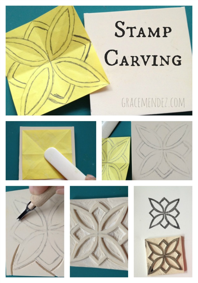Rubber stamp carving and repeat patterns grace mendez