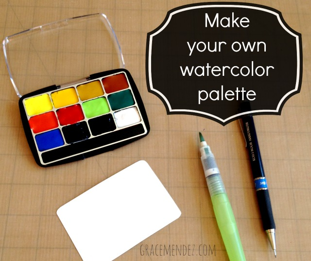Make your own watercolor palette tutorial