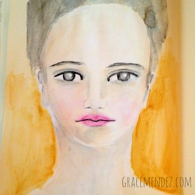 Mixed media portraits Grace Mendez