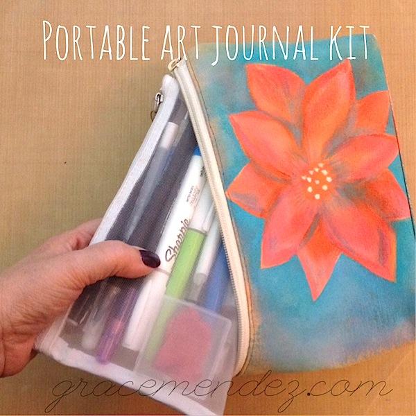 Portable Art Journal Kit Grace Mendez