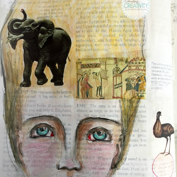 Grace Mendez Altered Book Page