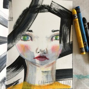 Art Journal Page by Grace Mendez
